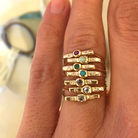Wish Band in Gold with Diamonds