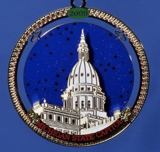 2009 Michigan Capitol Ornament