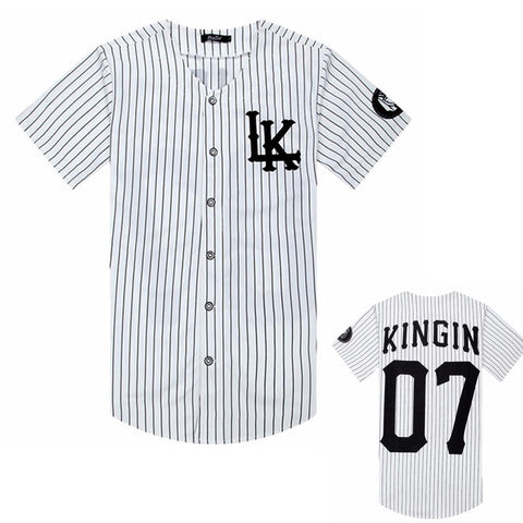 Streetwear Hip Hop Baseball Jersey Striped Shirt, Clothing For Men, Tyga Last Kings Clothing - Jason Christopher Store