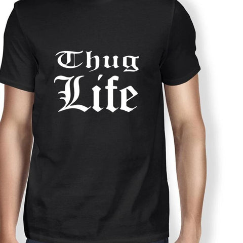 2018 Summer Thug Life Printed Men T Shirts