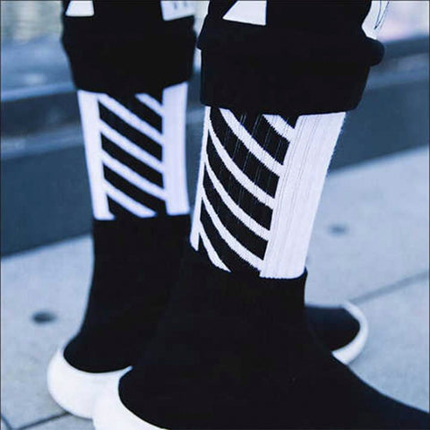 White for Stylish Casual socks crew men - Jason Christopher Store