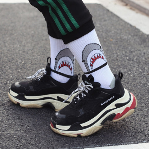 Fashionable Black and white streetwear socks - Jason Christopher Store