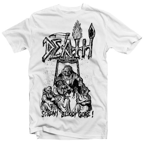 Bloody  Line Art White T Shirt - Jason Christopher Store