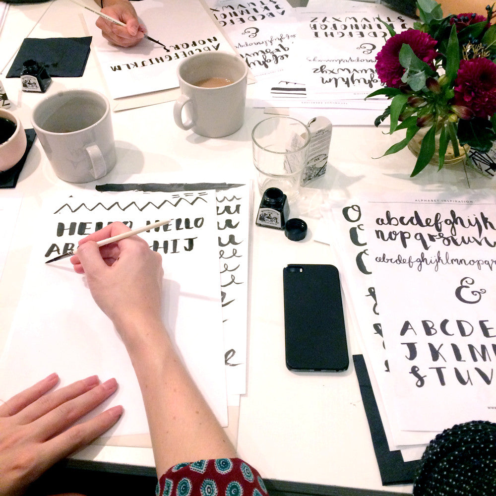 Brush Lettering workshop with illustrator Emma Block