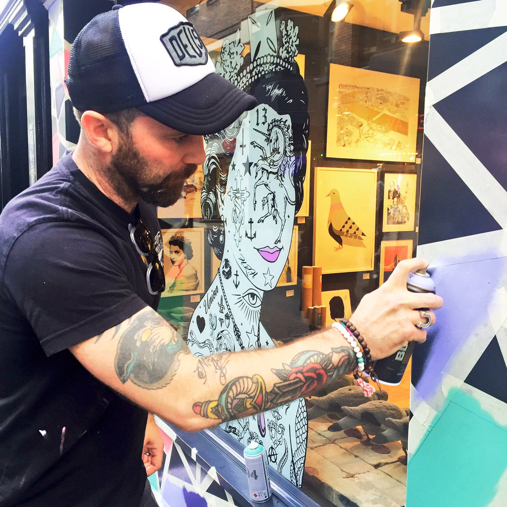 Live Art event with WBTC storefront artist Rugman