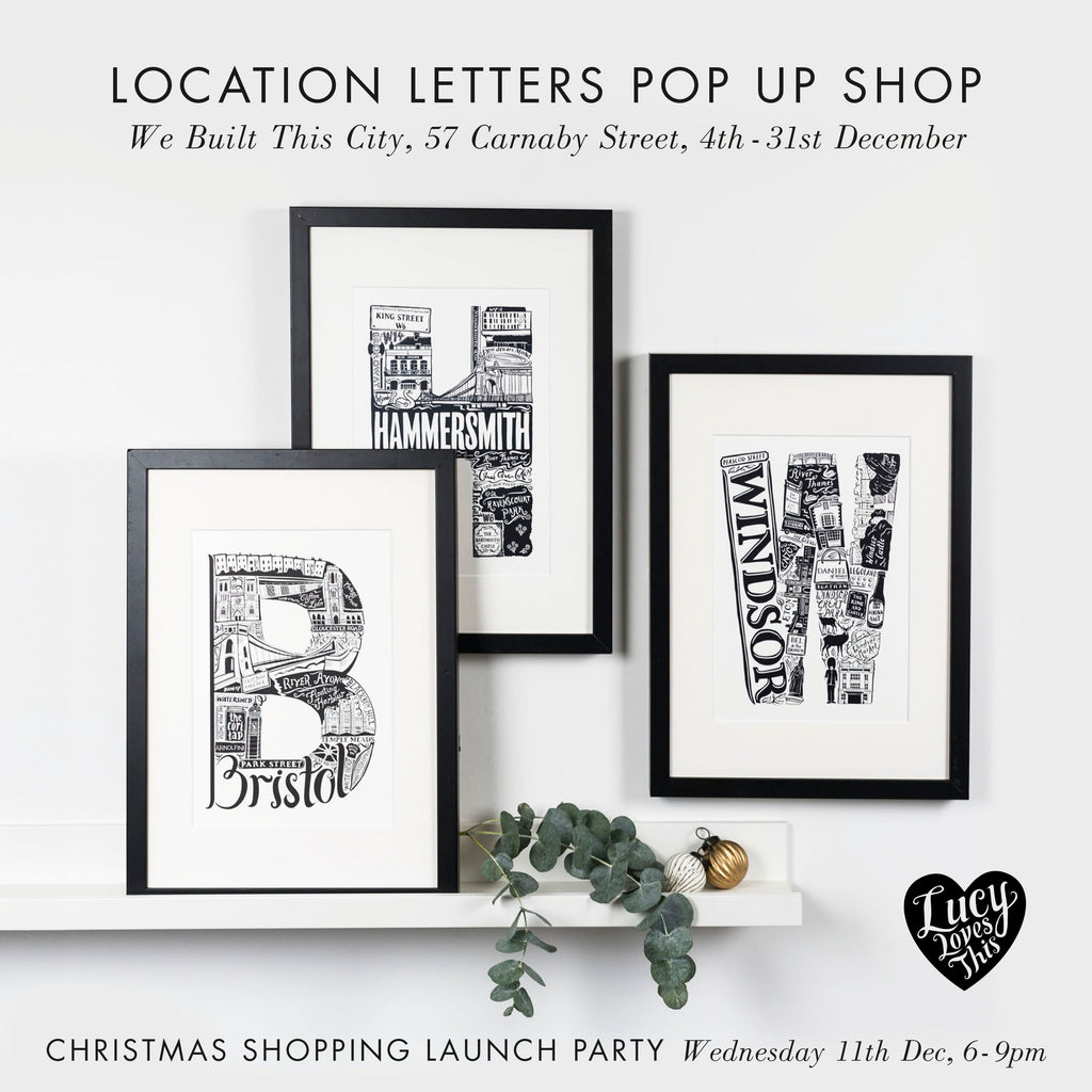 Pop-Up Shop: Location Letters by LucyLovesThis