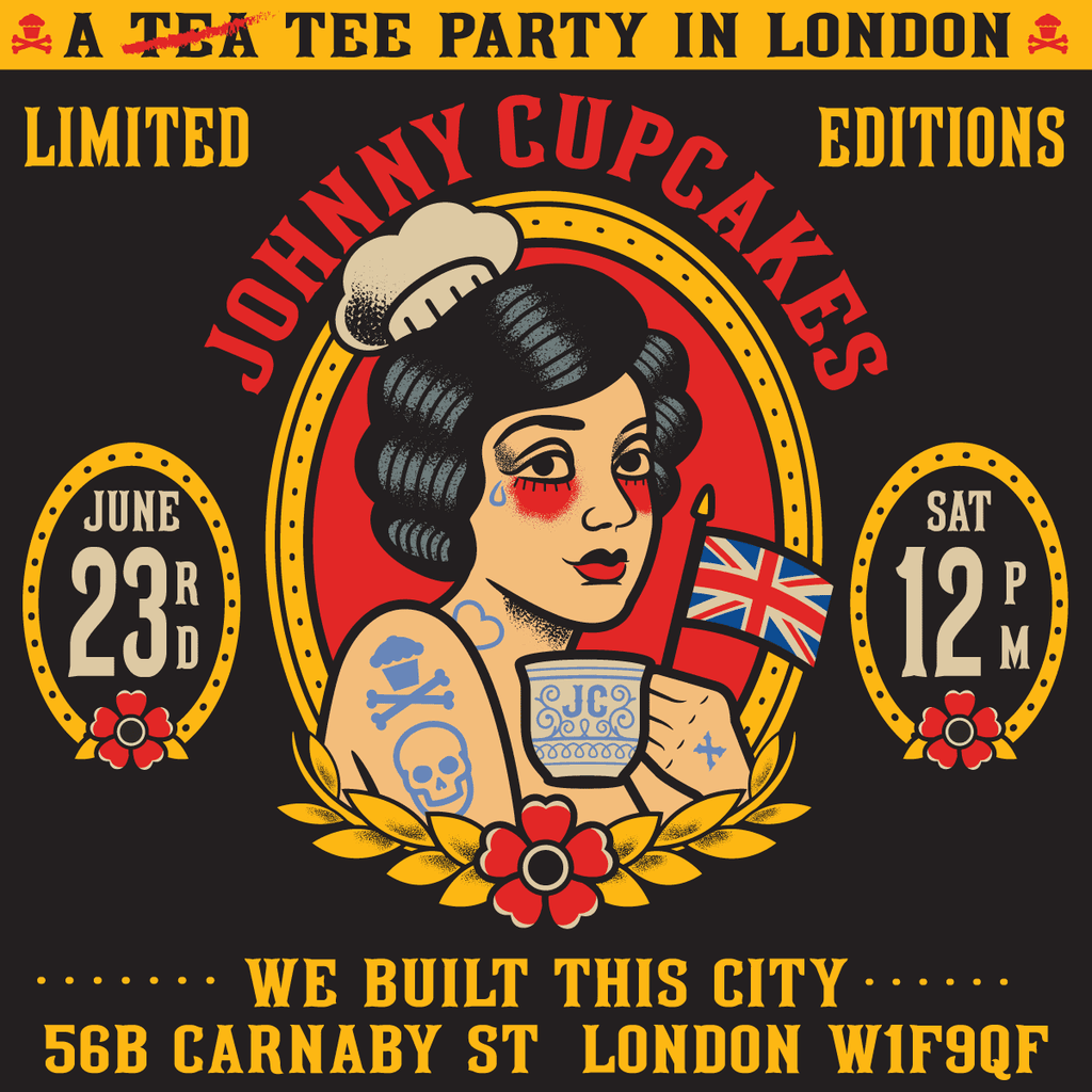 TEE PARTY: Johnny Cupcakes returns to Carnaby!