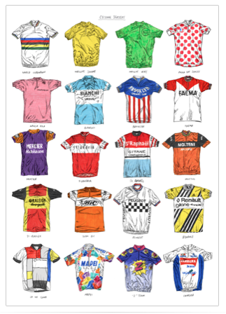 Cycling Jerseys Art Sport David Sparshott for We Built This City 2