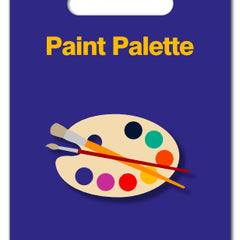 Paint Palette Acrylic Badge
