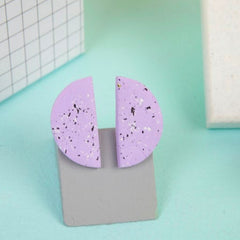 Speckle Studs - Lilac Jewellery - Earrings Baked By Lou for We Built This City 2