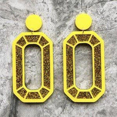 Mega Gem Earrings - Gold Jewellery - Earrings No Basic Bombshell for We Built This City 2