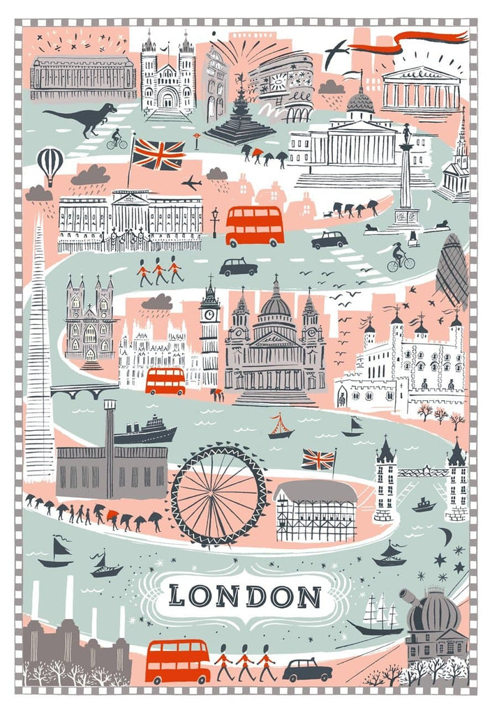 Forever London Art Map Alice Tait for We Built This City 2