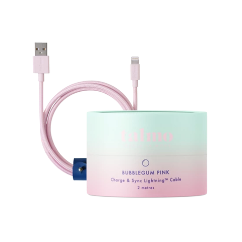 2m Lightning Cable - Bubblegum Pink