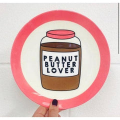 Peanut Butter Lover Plate Ceramics - Plates Stephanie Komen for We Built This City 2