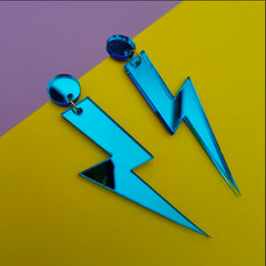Lightning Bolt Earrings - Blue Jewellery - Earrings Fizz Goes Pop for We Built This City 2