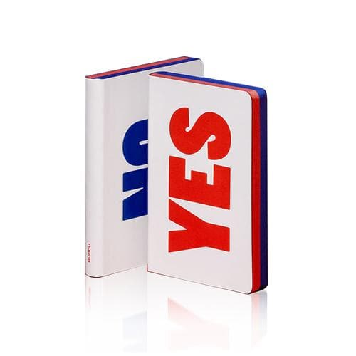 Yes No Graphic Large Notebook