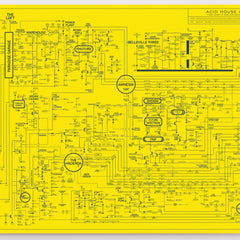 *YELLOW* Acid House Love Blueprint Art Music Dorothy for We Built This City 2