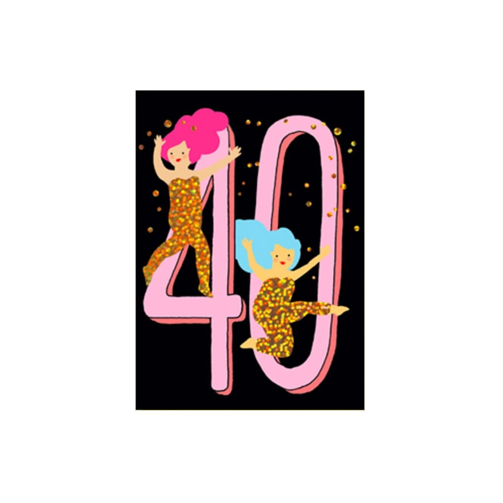 40 - Sparkly Girls card