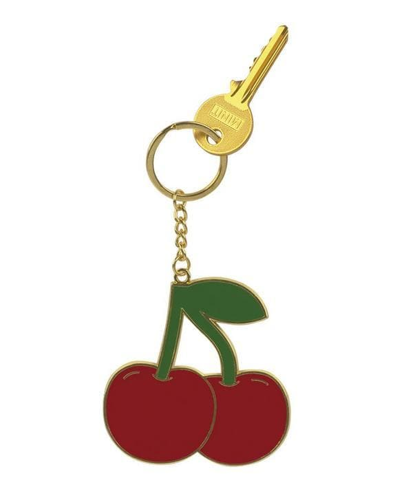 Oversized Cherry Keyring