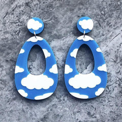 Cloud Dangler Earrings
