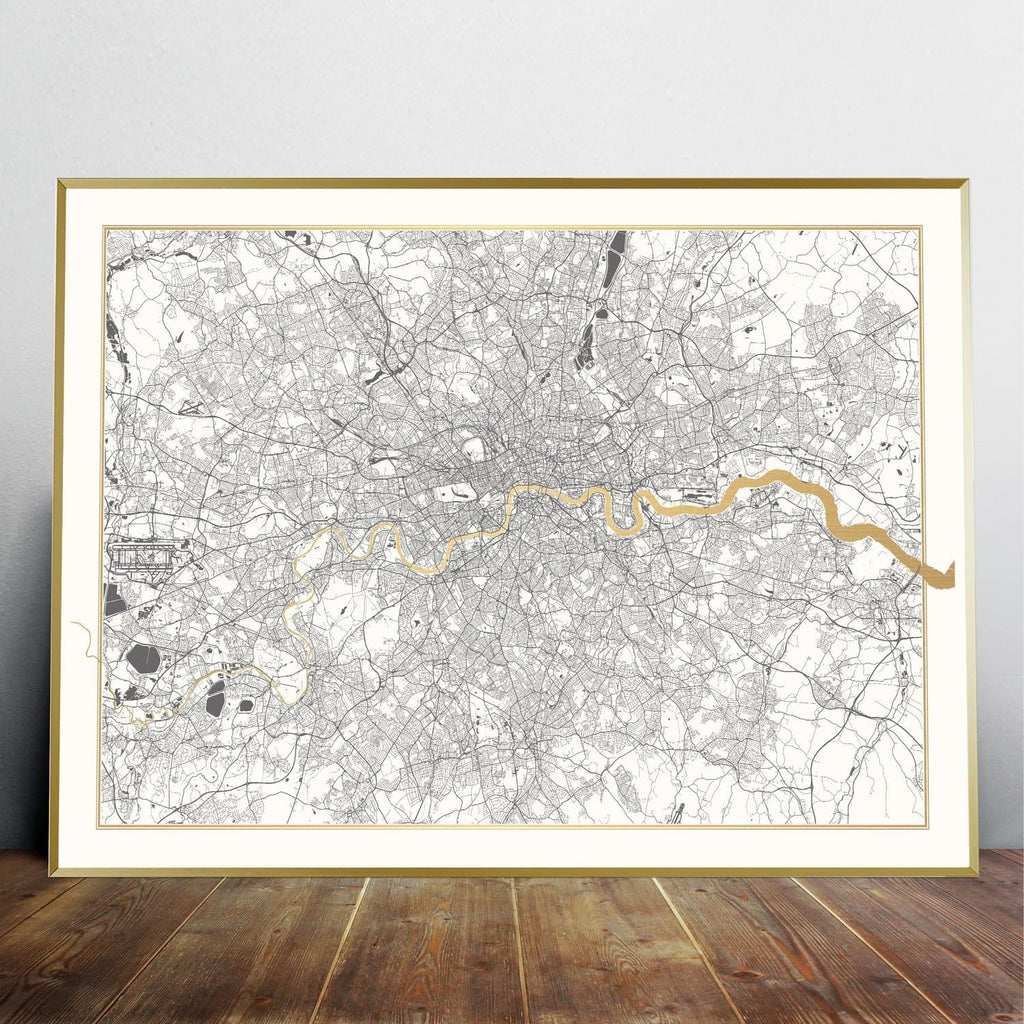 Gold Thames London - Catford Creative (A1) Art Map Catford Creative for We Built This City 2
