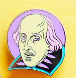 Pastel Shakespeare Enamel Pin Pins & Patches Thread Famous for We Built This City 2