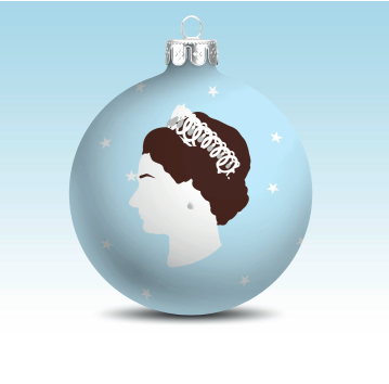 The Queen Hand Painted Bauble