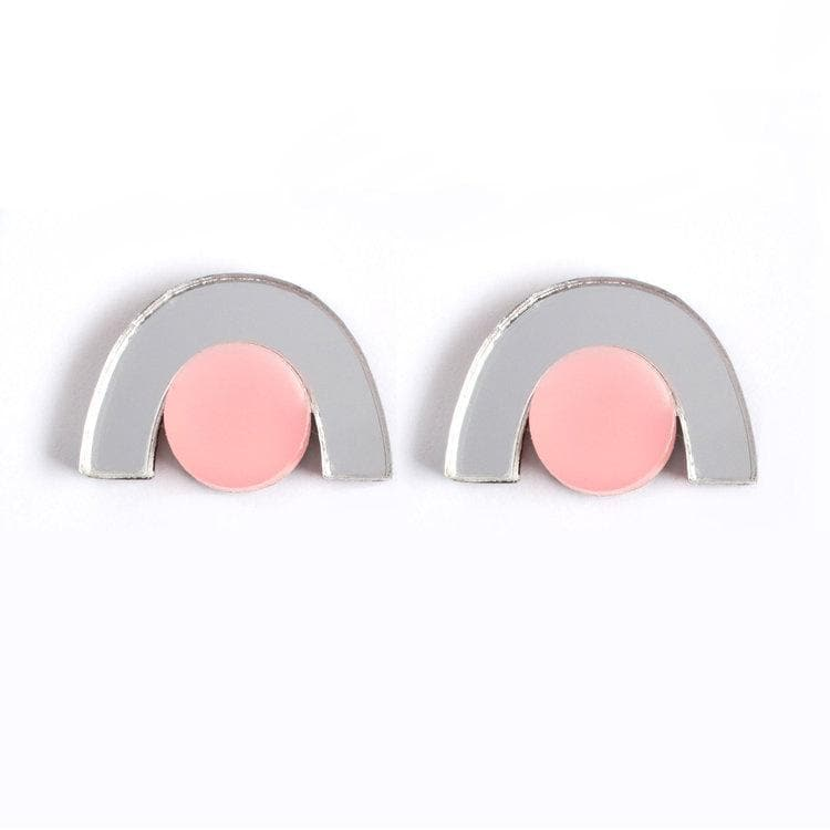 Faye Earrings - Silver and Peach Jewellery - Earrings Natalie Lea Owen for We Built This City 4