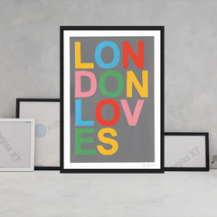 London Loves Art Typography Oli Fowler for We Built This City 2