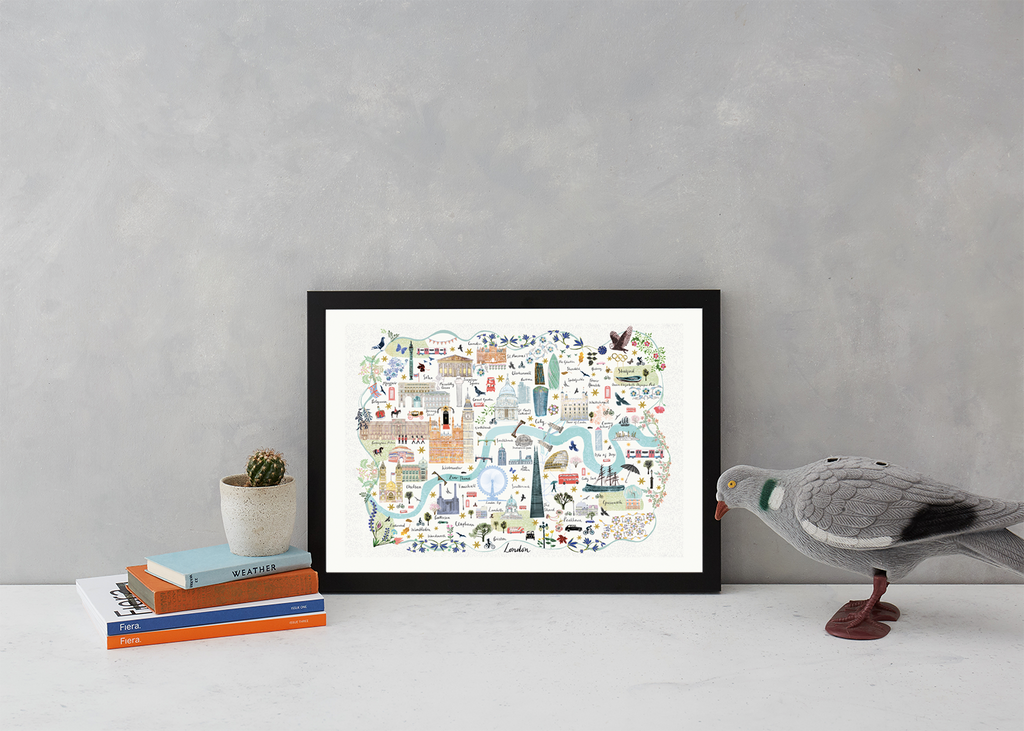 London Floral City Map A3 Art Commission Josie Shenoy Illustration for We Built This City 3