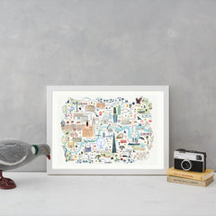 London Floral City Map A3 Art Commission Josie Shenoy Illustration for We Built This City 4