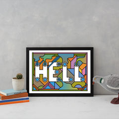 HELL Art Typography Supermundane for We Built This City 4
