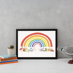 Animal Rainbow Art Wildlife Katie Viggers for We Built This City 2