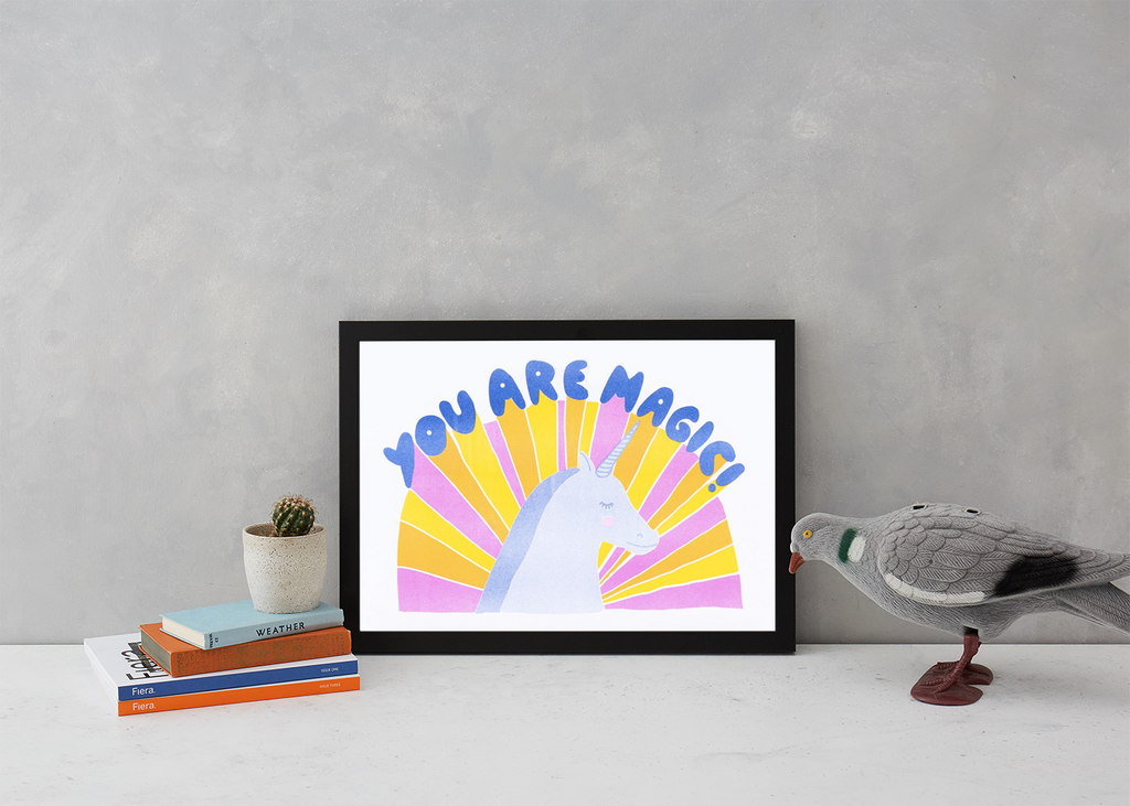 You Are Magic Risograph Art Typography Yellow Owl Workshop for We Built This City 2
