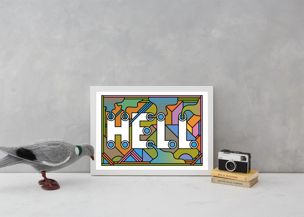 HELL Art Typography Supermundane for We Built This City 5