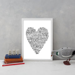 My Heart Belongs To London Art Typography Karin Akesson Design for We Built This City 5