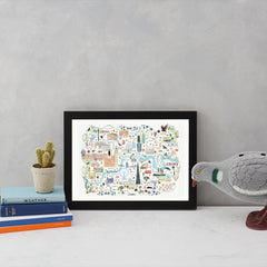 London Floral City Map A4 Art Commission Josie Shenoy Illustration for We Built This City 8