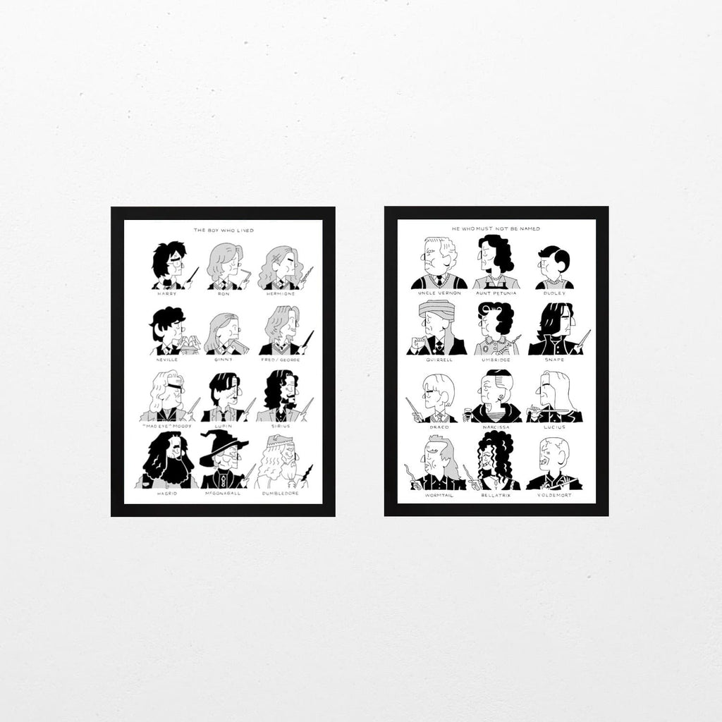 Harry Potter Print Duo - Set of 2 Art Culture Andrew Waugh for We Built This City 1