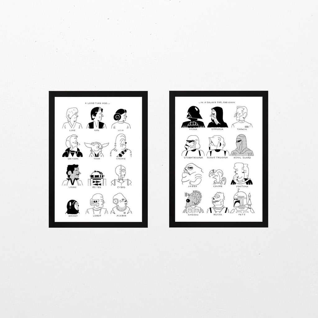Star Wars Print Duo - Set of 2 Art Culture Andrew Waugh for We Built This City 1