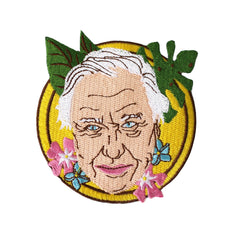Sir David Attenborough Iron On Patch