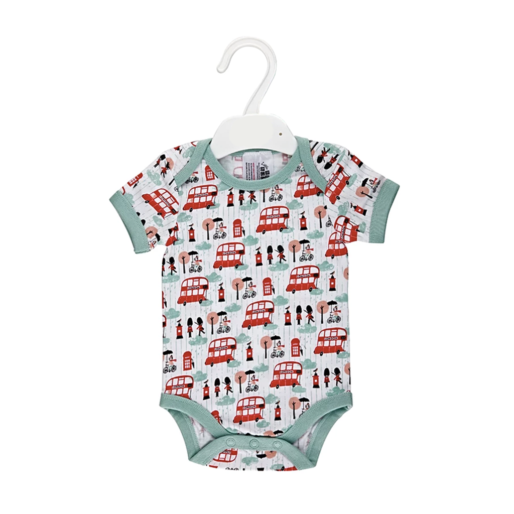 Little Red Bus Baby Vest