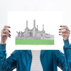 Battersea Power Station (Bright Green)
