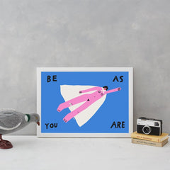 super woman pink blue girl power cape print positive vibes a3 aley hanson be as you are for We Built This City 3