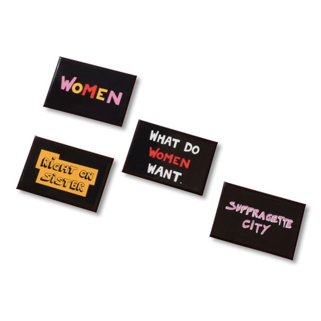 Suffragette City Set of Four Magnets