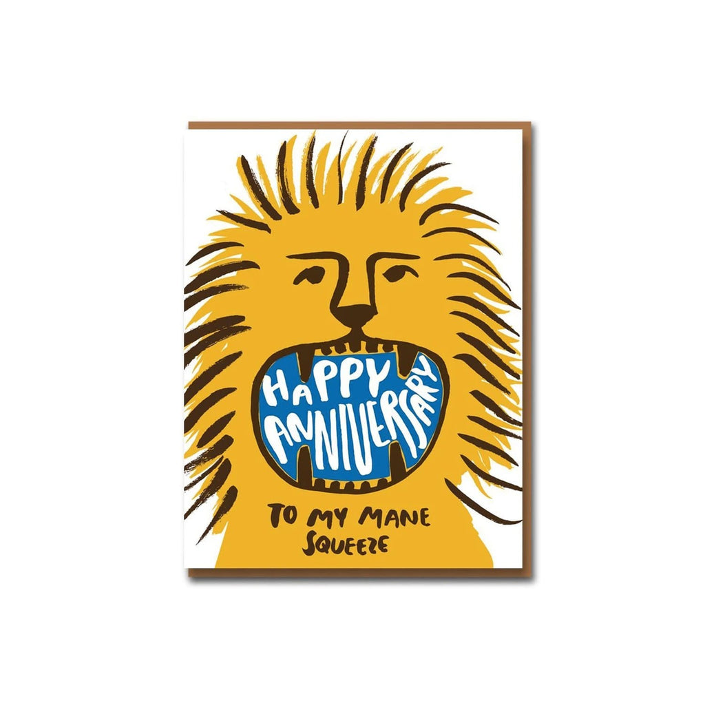 Happy Anniversary To My Mane Squeeze Card