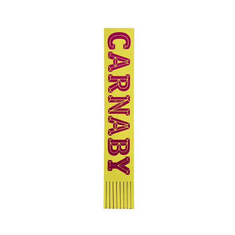 Carnaby Leather Bookmark Lemon Yellow