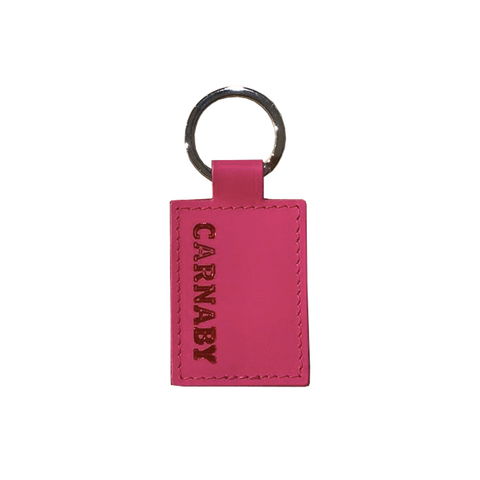 Carnaby Leather Keyring Lipstick Pink