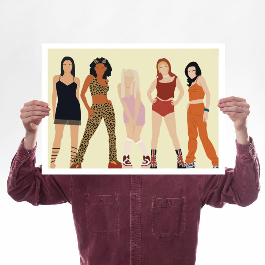 Spice Girls, Girl Power, Victoria Beckham, Emma Bunton, Geri Halliwell, Scary Spice, Mel C, 90s, Nineties, A2 Print for We Built This City 1
