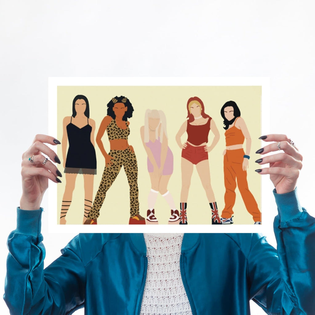 Spice Girls, Girl Power, Victoria Beckham, Emma Bunton, Geri Halliwell, Scary Spice, Mel C, 90s, Nineties, A3 Print for We Built This City 2