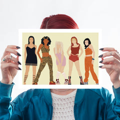 Spice Girls, Girl Power, Victoria Beckham, Emma Bunton, Geri Halliwell, Scary Spice, Mel C, 90s, Nineties, A4 Print for We Built This City 3